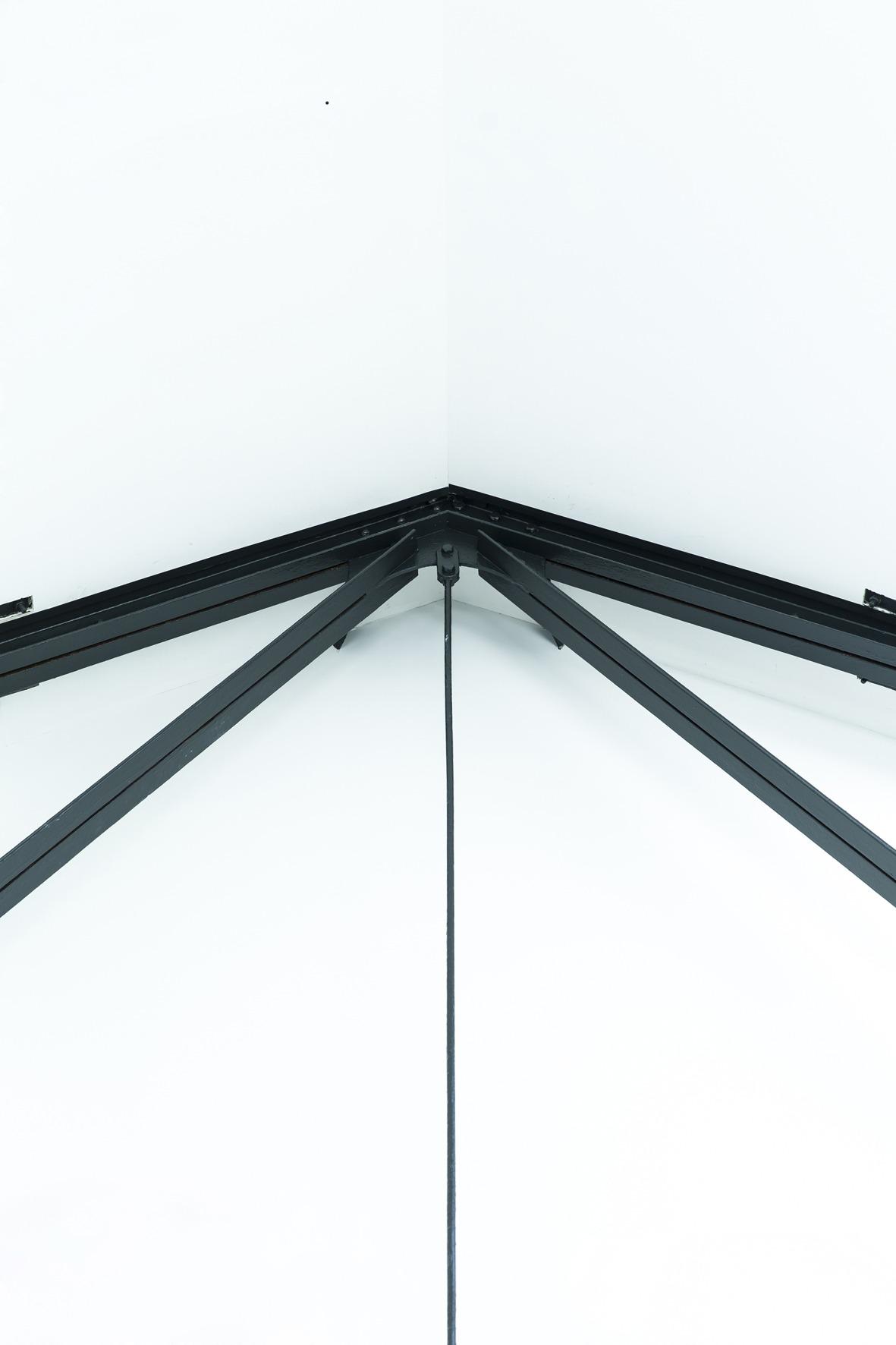 constructief detail in het zicht, aandacht van een architect