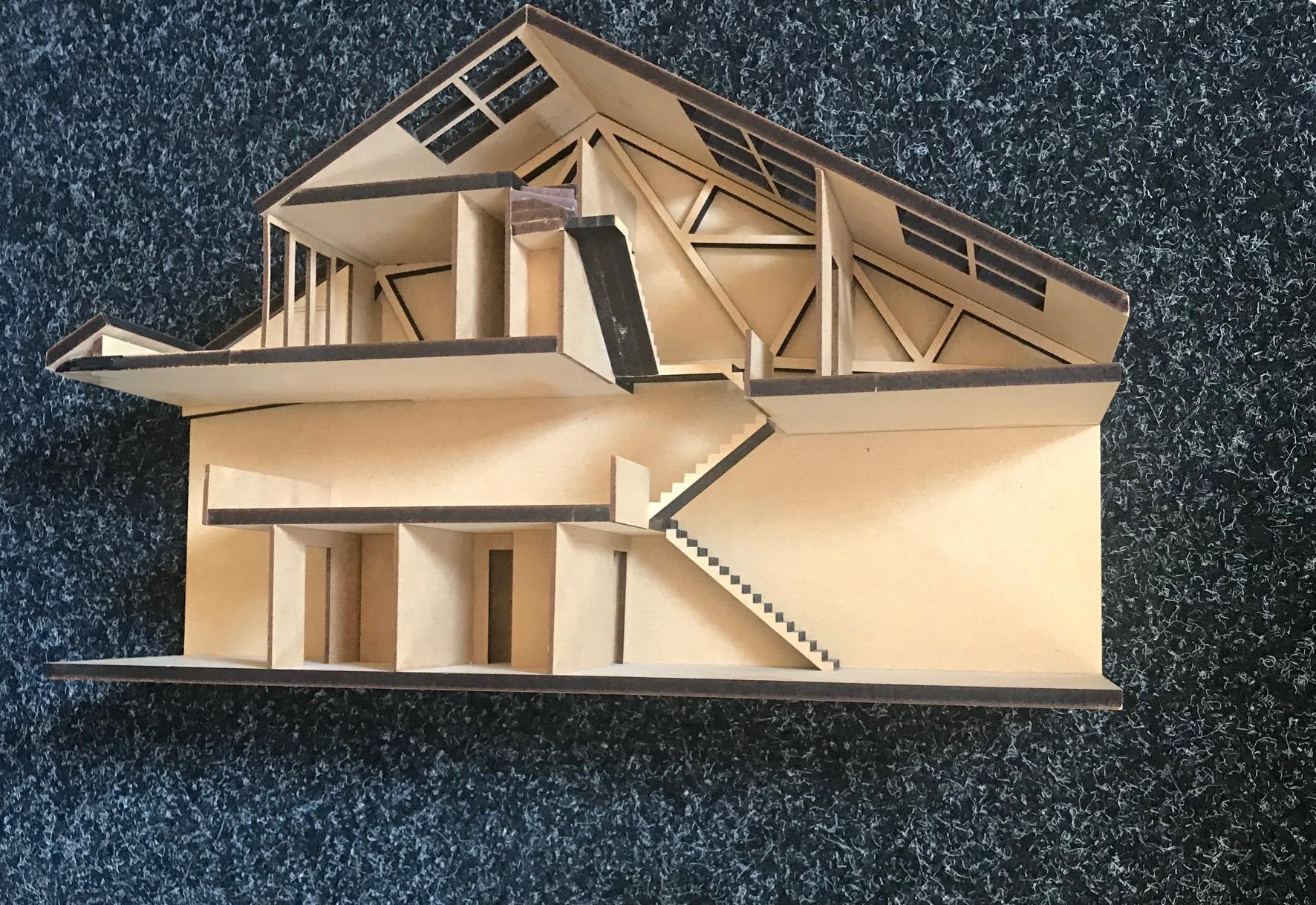 Maquette van loft door Arnhemse architect